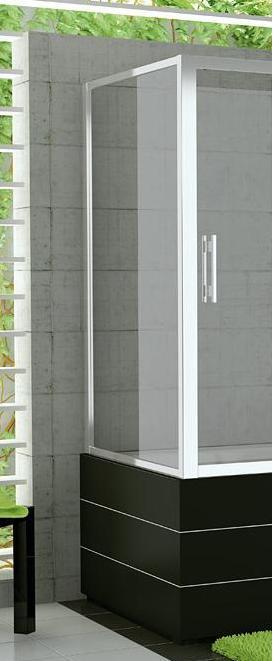 RONAL TOPV TOP-Line boční stěna vanová 80-120cm, bílá/Durlux TOPVSM20422