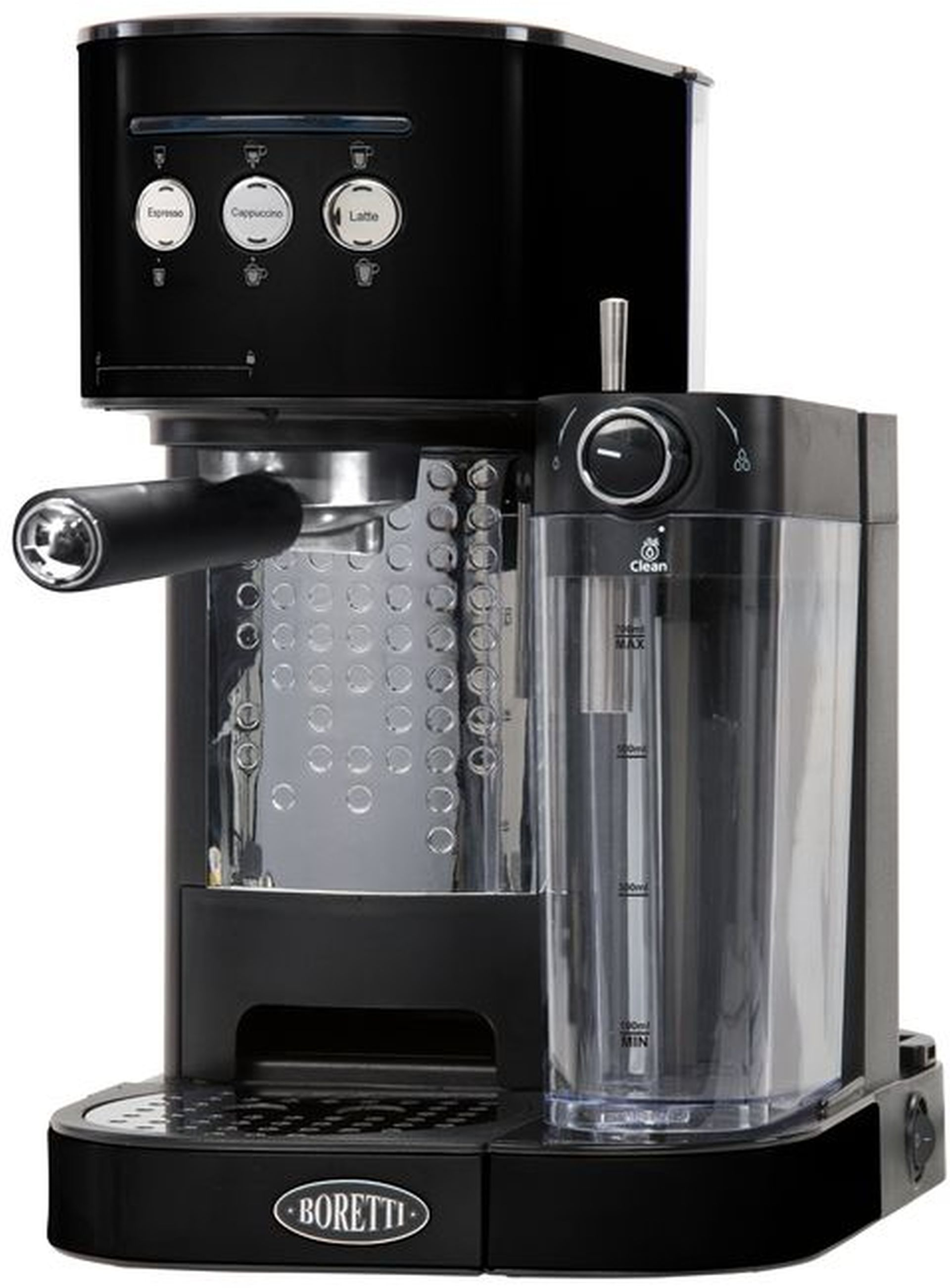 Boretti Espresso kávovar pákový 1470 W, černý B400