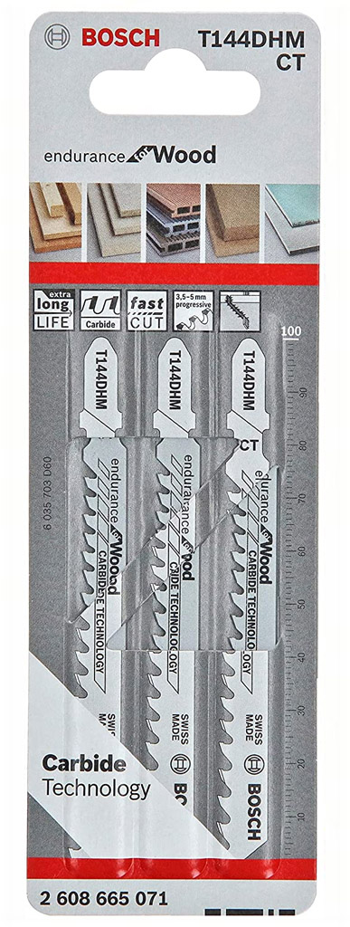 BOSCH Pilový plátek T 144 DHM, 100 mm, 3ks 2608665071