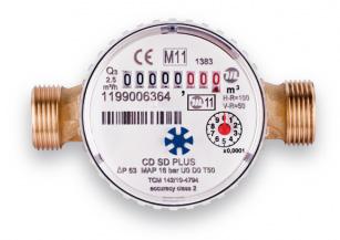 "NOVASERVIS antimagnetický vodoměr 1/2 "" jednovtokový, suchoběžný do 90C CDSD15ACPLUS"