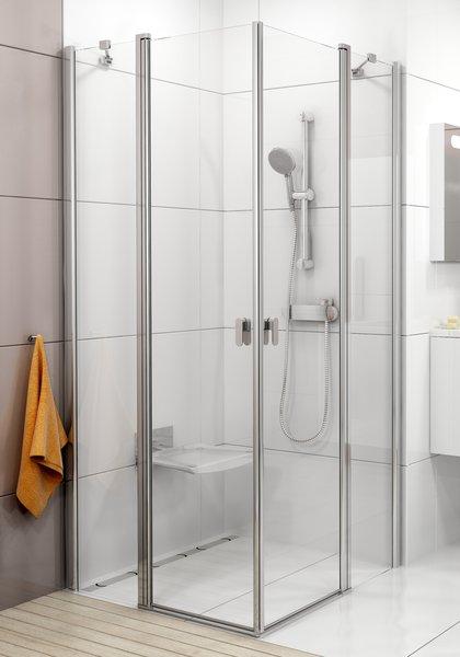 RAVAK Chrome CRV2-100 sprchové dveře, satin+Transparent 1QVA0U00Z1