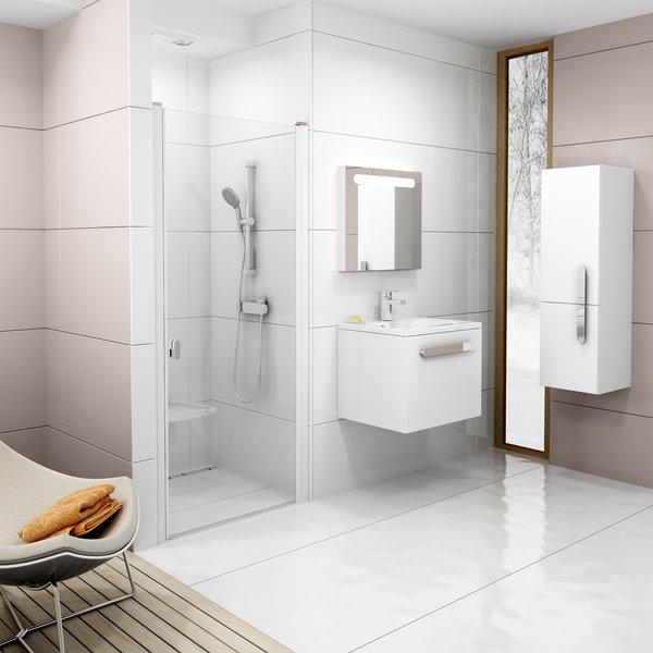 RAVAK Chrome CSD1-90 sprchové dveře, white+Transparent 0QV70100Z1