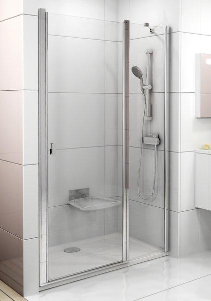 RAVAK Chrome CSD2-100 sprchové dveře, satin+Transparent 0QVACU00Z1