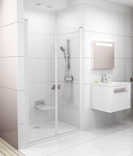RAVAK CHROME CSDL2-90 sprchové dveře, white+Transparent 0QV7C10LZ1