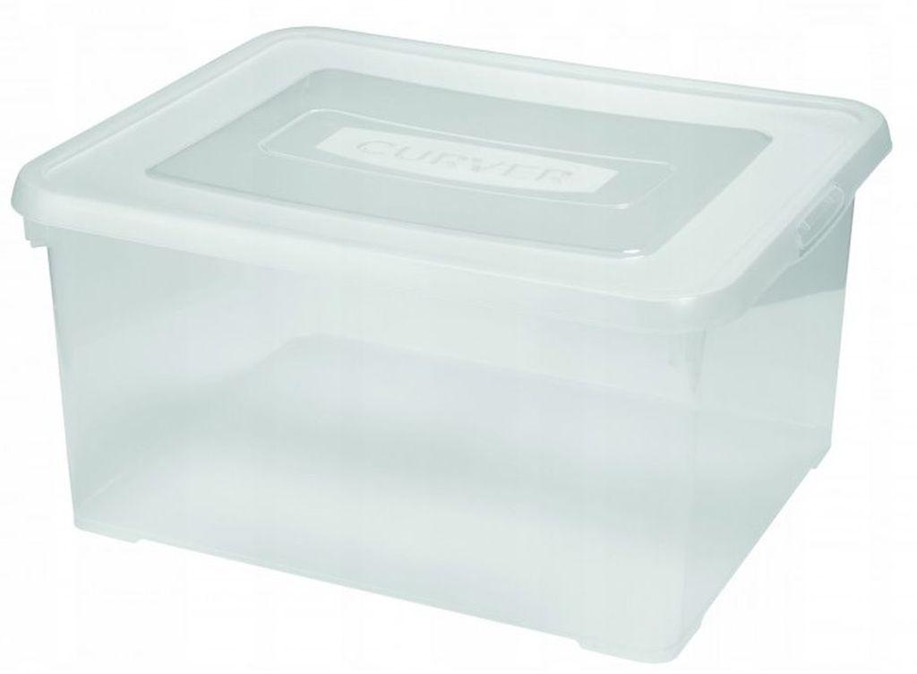CURVER HANDY BOX 35L 25x49x40cm transparentní 00445-001
