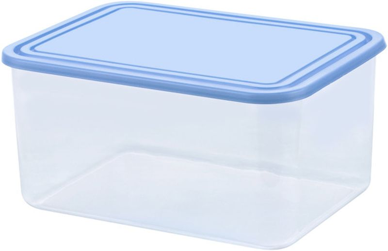 CURVER 4L Dóza na potraviny, 25 x 18,5 x 12,3 cm, transparentní/modrá 03875-084