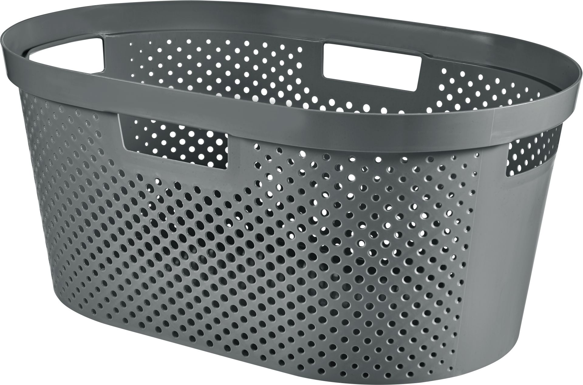 CURVER INFINITY 39L Koš na čisté prádlo, recyklovaný plast, tmavě šedý 04755-G43