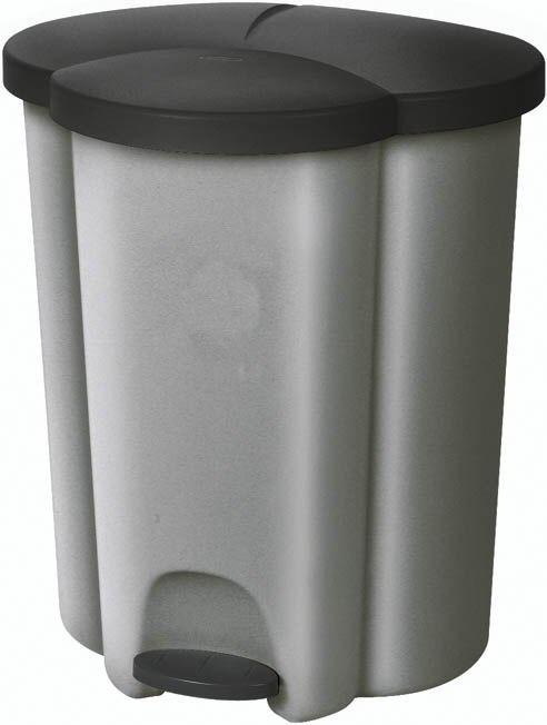 VÝPREDAJ CURVER Pedálový koš na tříděný odpad TRIO PRASKLÉ VÍKO
