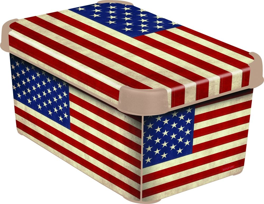 CURVER box úložný dekorativní S AMERICAN FLAG, 29,5 x 19,5 x 13 cm, 04710-A33