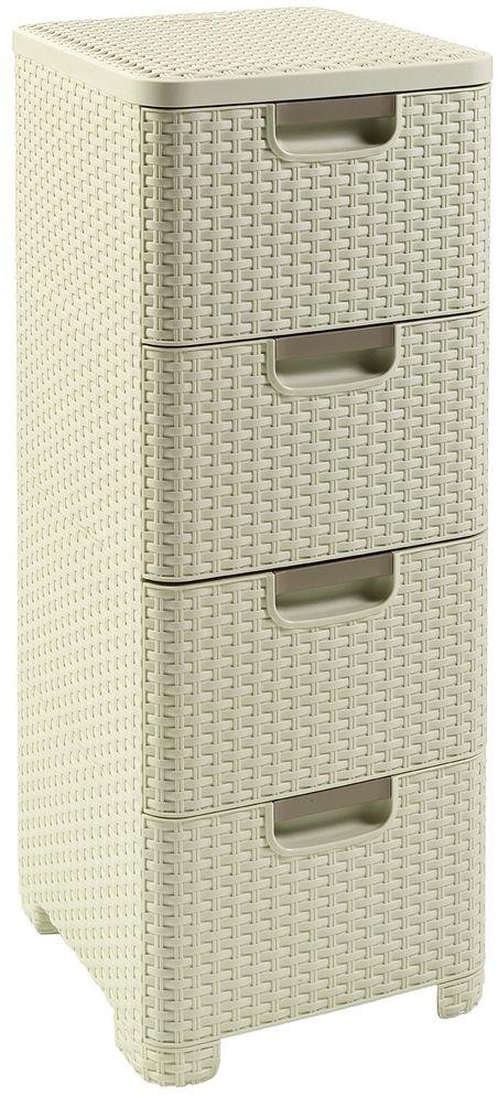 CURVER Zásuvka 4x 14l RATTAN Style - krémová, 06605-885