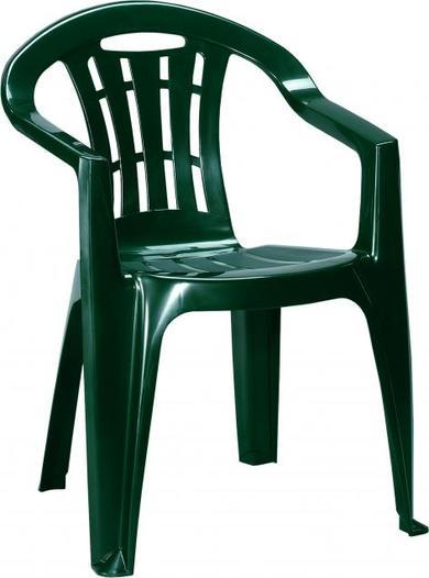 CURVER MALLORCA zahradní židle, plastová tmavě zelená 17180335