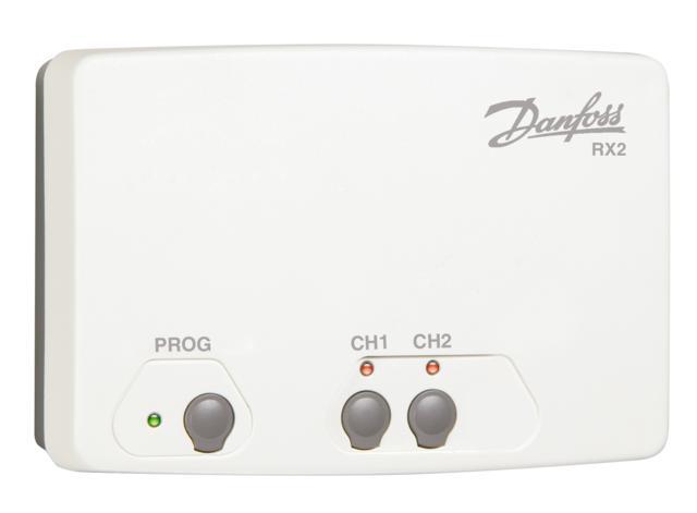 Danfoss RX2 Přijímač signálů od prostorových termostatů 087N7477