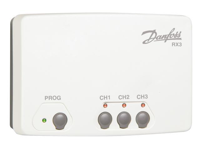 Danfoss RX3 Přijímač signálů od prostorových termostatů 087N7478