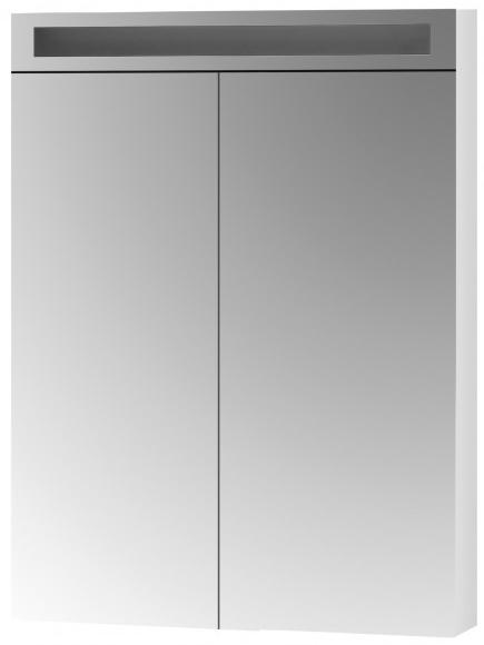 DŘEVOJAS AIR 60 2D galerka s LED osvětlením a zásuvkou (zrcadlo 30/30), bílá lesk 69264