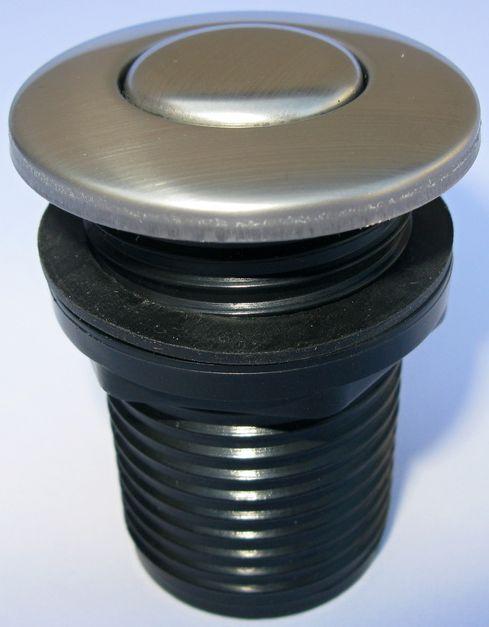 Samostatné pneutlačítko, matný nerez 001010147