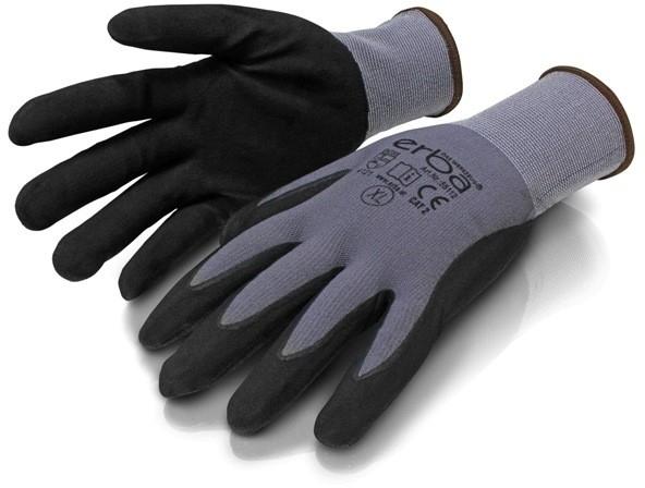 ERBAPracovní rukavice L polyesterové potažené latexem ER-55126