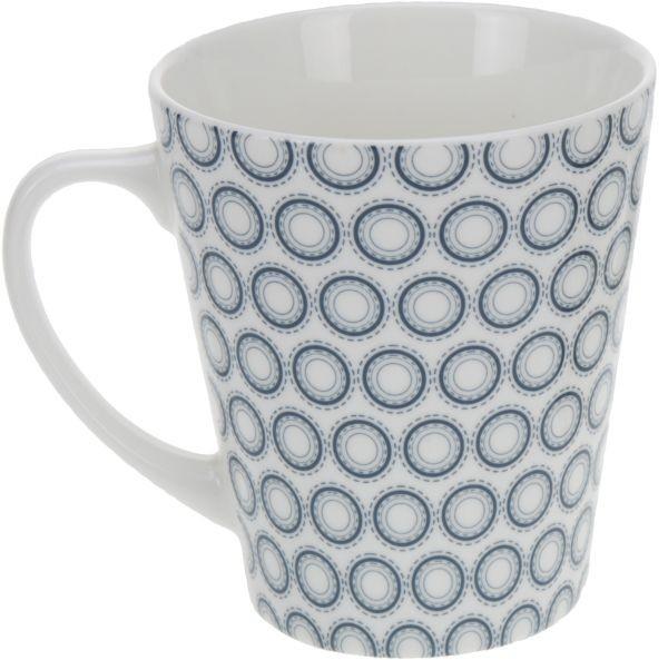 EXCELLENT Hrnek 320 ml, modré kroužky KO-Q75100270modr