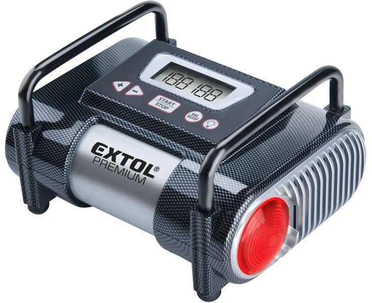 EXTOL PREMIUM CC 140 kompresor do auta 12V, automatický s LCD a světlem 8864006