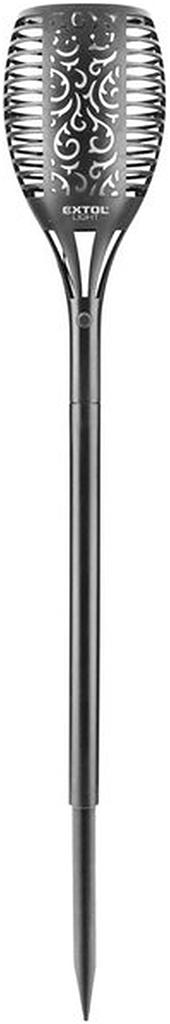 EXTOL LIGHT pochodeň LED s plamenem, 79cm, solární nabíjení, 35lm 43132