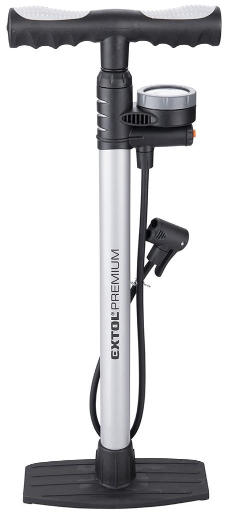EXTOL PREMIUM 8864200 pumpa na kolo s manometrem a upouštěcím ventilem