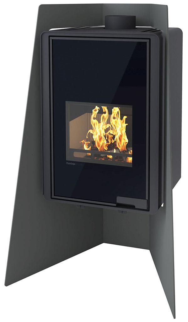 HS FLAMINGO DELUXE ® ISLAND Krbová kamna 9kW, černá HSF42-001