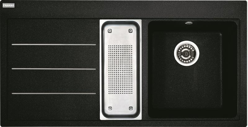 Franke Mythos Fusion MTF 651/7, 1000x515 mm, Fragranitový dřez onyx 114.0120.257