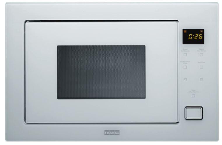 FRANKE FMW 250 CR G WH mikrovlnná trouba, bílé sklo 131.0264.332