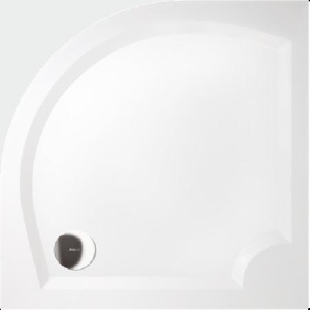 GELCO G5 Laura čtvrtkruhová sprchová vanička 100 profilované dno, bílá GL501