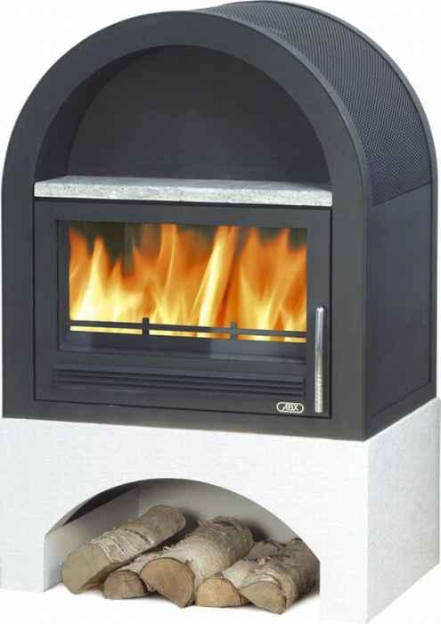 ABX Grunt 3029-18, krbová kamna na dřevo s teplovodním výměníkem 10 kW, černý plech