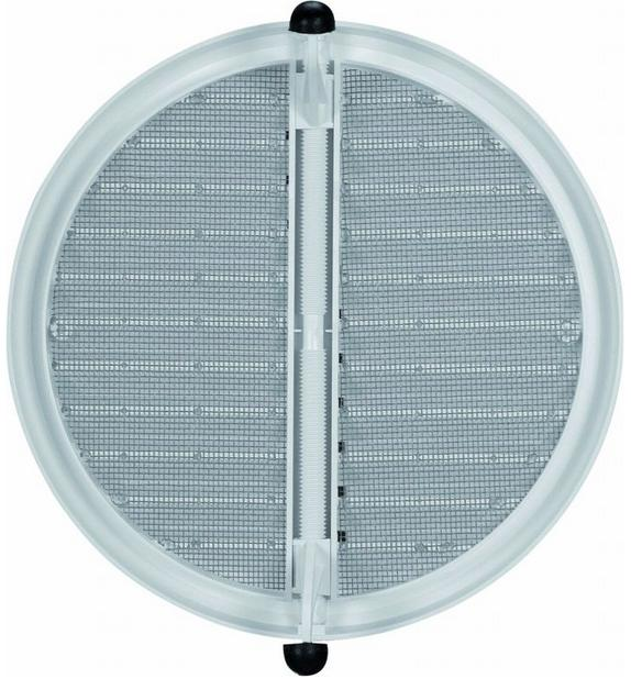 HACO větrací mřížka se síťovinou - krytka stavitelná VM 75-125 KS B plast, bílá 0417