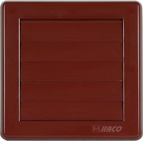 HACO větrací mřížka gravitační VM 150x150 G/100 H plast, hnědá 0216