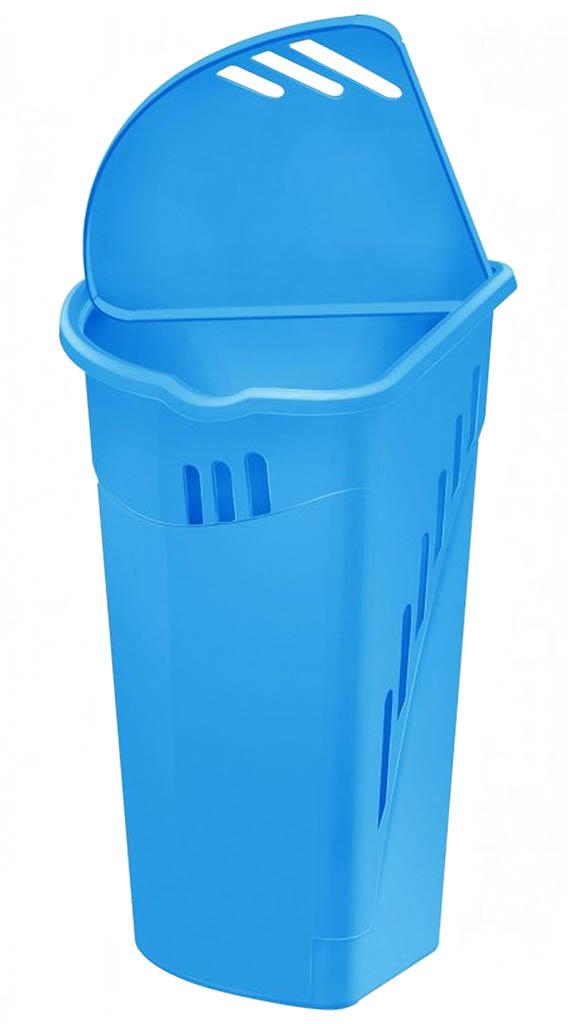 HEIDRUN koš na špinavé prádlo 54 x 38 x 38 cm 35 l rohový modrý 1302