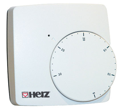 HERZ Elektronický prostorový regulátor pro podlahové vytápění 230 V 3F79200