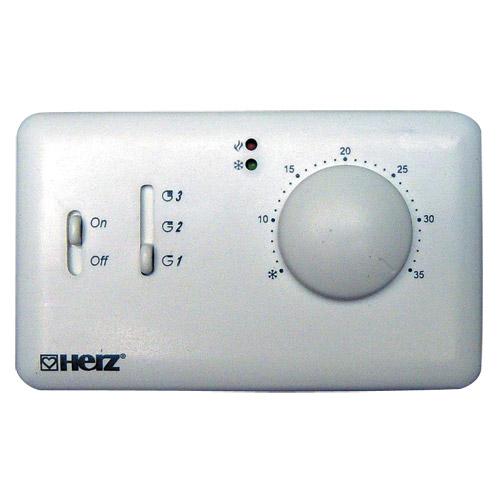 HERZ Prostorový termostat pro klimatizace Fan Coily 230 V 1779505