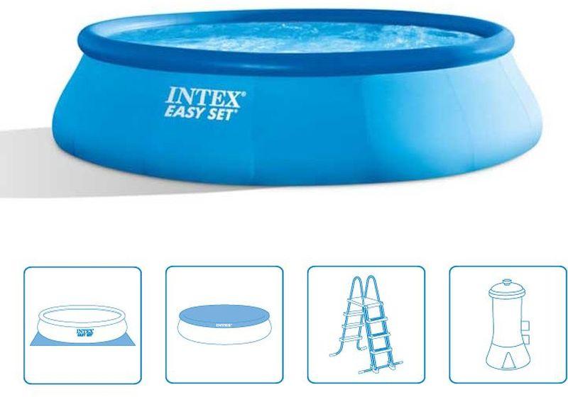 INTEX EASY SET POOL 4,57 x 1,22 m s katrušovou filtrační pumpou (220-240 V) 26168NP