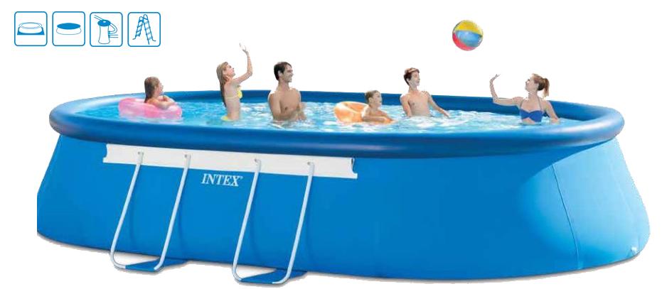 INTEX Bazén Oval Frame Pool 3,66 x 6,10 x1,22 m, 28194NP