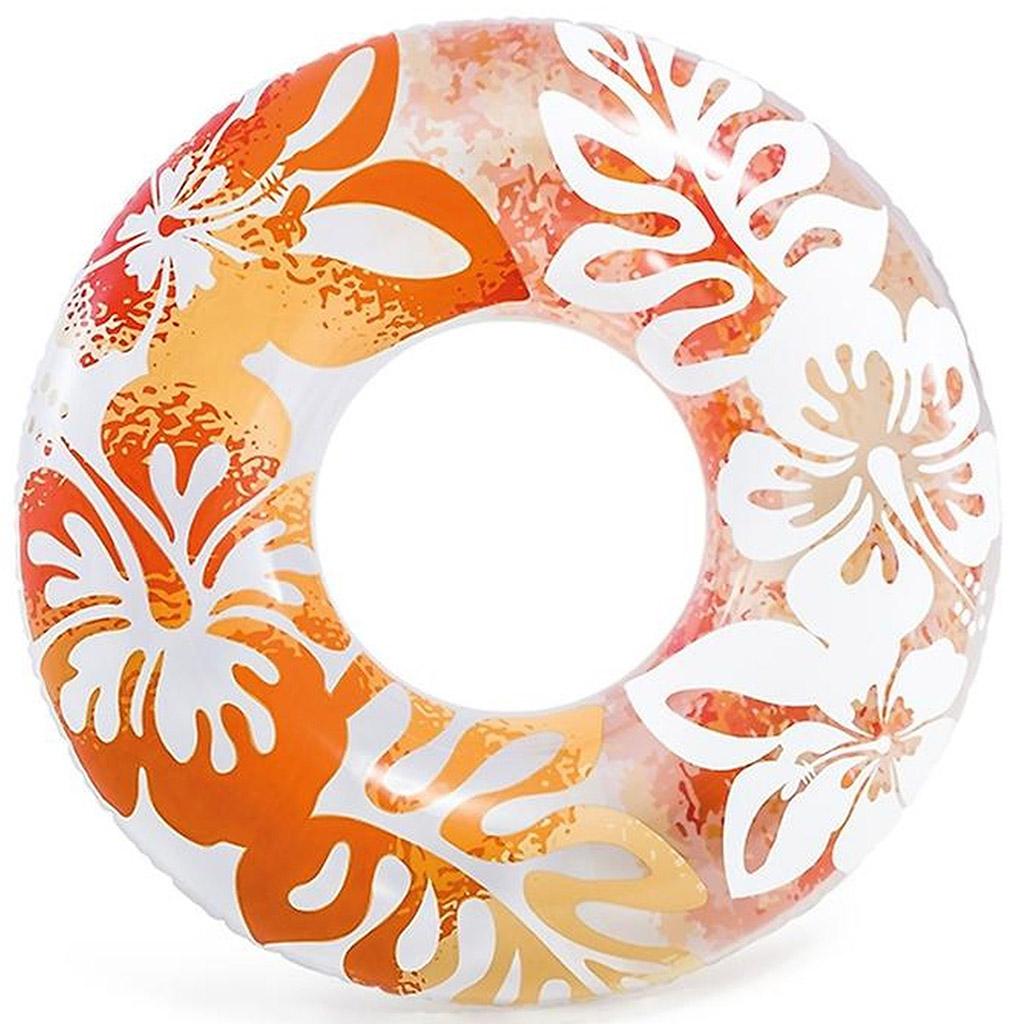 INTEX Plovací kruh 91cm, oranžová 59251
