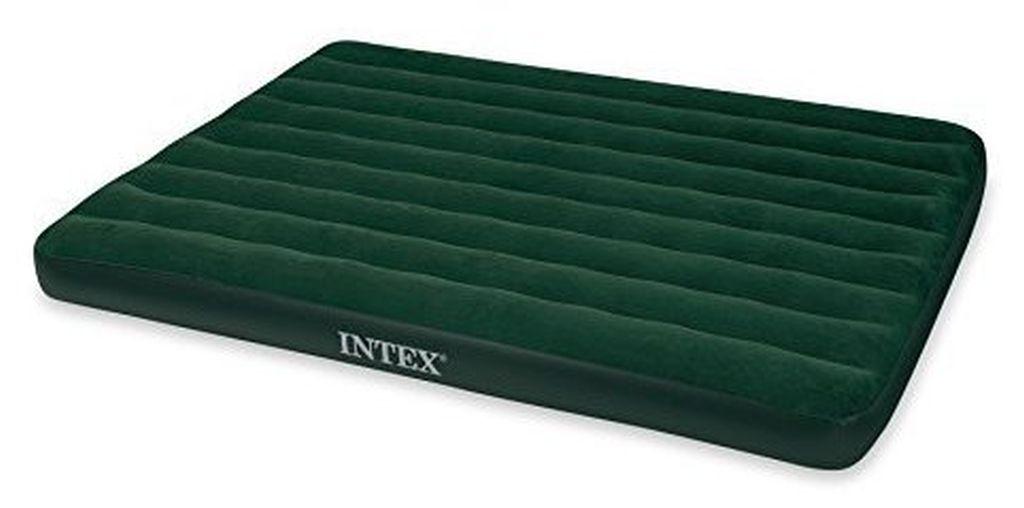 INTEX Queen Prestige Downy nafukovací postel s pumpou, 203 x 152 x 22 cm, 66969