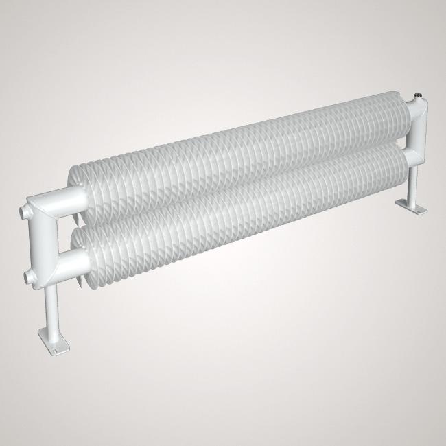 ISAN SPIRAL RAT2 radiátor na zem sněhově bílá (RAL 9016) 1000/32x2,0x92 ZRAT232092100F01