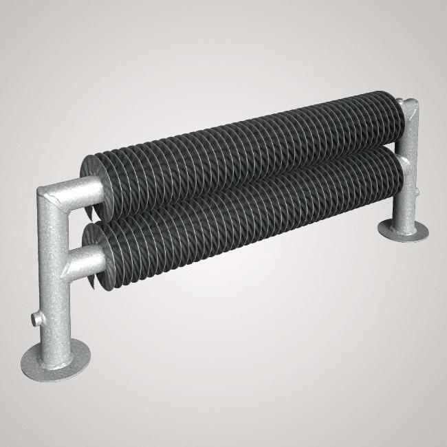 ISAN SPIRAL RAT2 radiátor na zem kov (RAL 9006) 1000/32x2,0x92 ZRAT232092100F20