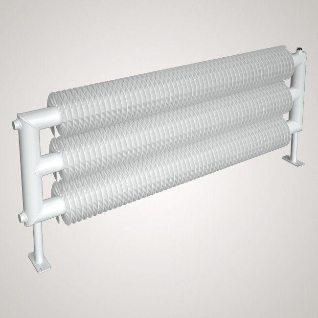 ISAN SPIRAL RAT3 radiátor na zem sněhově bílá (RAL 9016) 1000/32x2,0x92 ZRAT332092100F01