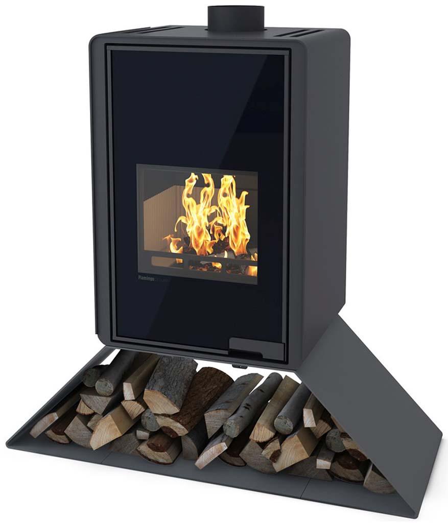 HS FLAMINGO DELUXE ® SENAI Krbová kamna 9kW, černá HSF42-032