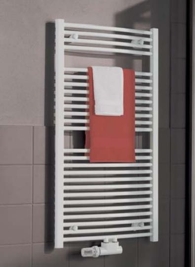 Kermi B20-R M koupelnový radiátor 1174 x 390 mm, zaoblený, bílá LR01M1200402XXK