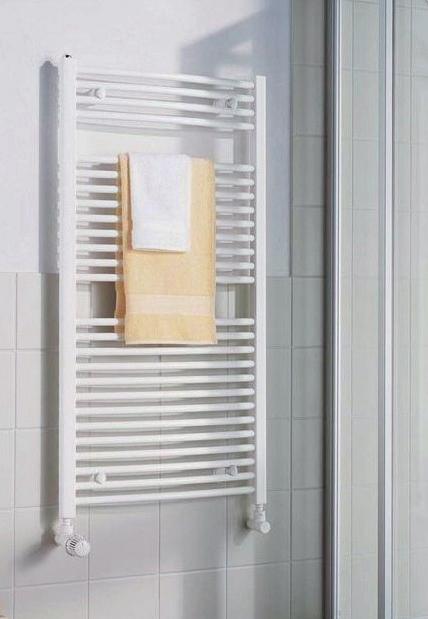 Kermi B20-R koupelnový radiátor 1174 x 390 mm, zaoblený, bílá LR0101200402XXK