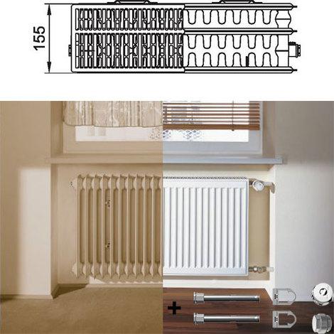 Kermi Therm X2 Profil-kompakt deskový radiátor pro rekonstrukce 33 954 / 2000 FK033D920