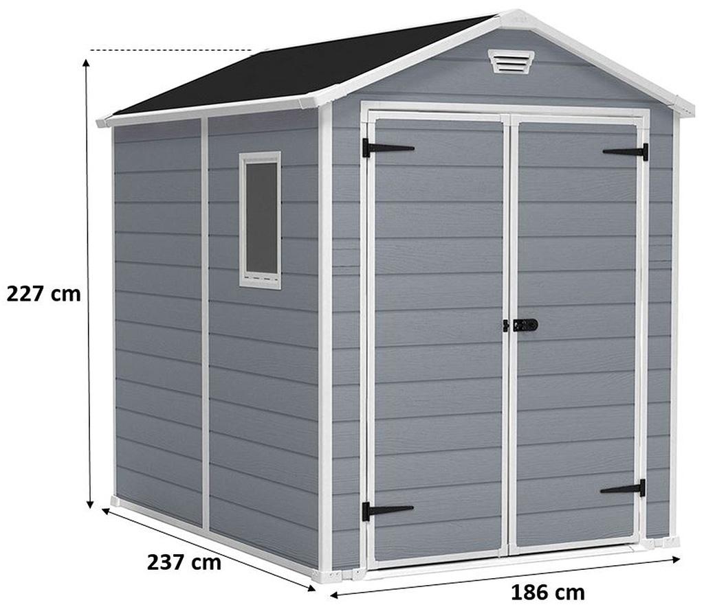 KETER MANOR 6 x 8 DD zahradní domek, 186 x 237 x 227 cm 17197129