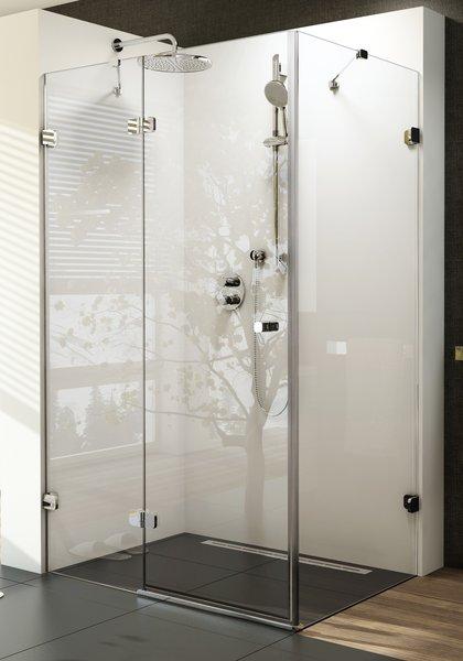 RAVAK Brilliant BSDPS-100/100 R sprchové dveře dvojdílné a stěna transparent 0UPA0A00Z1
