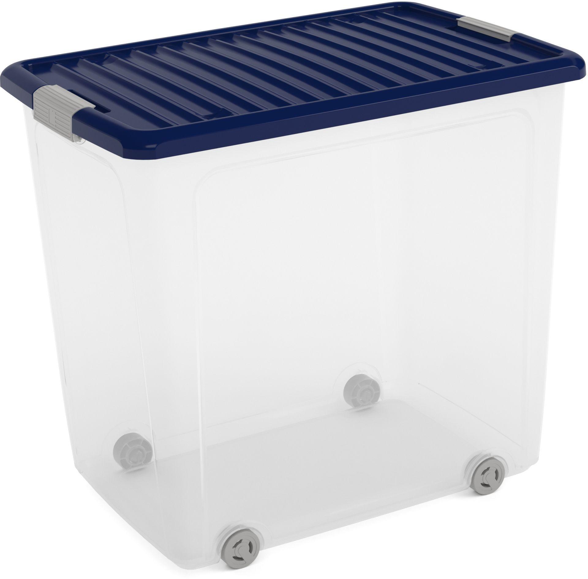 KIS W BOX XL 78L 57x39x52cm transparent/modrá indigo