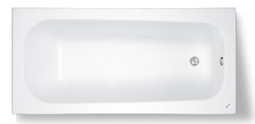 TEIKO Vana Klasik 120 obdélníková 120 x 70 cm, akrylátová, bílá V113120N04T01001