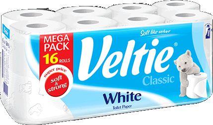 KLEENEX Welcomes Veltie Toaletní papír 16 rolí, 2-vrstvý, bílý 4100222
